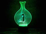 """3d светильник """"Птица в клетке"""" 3DTOYSLAMP, фото 2"""