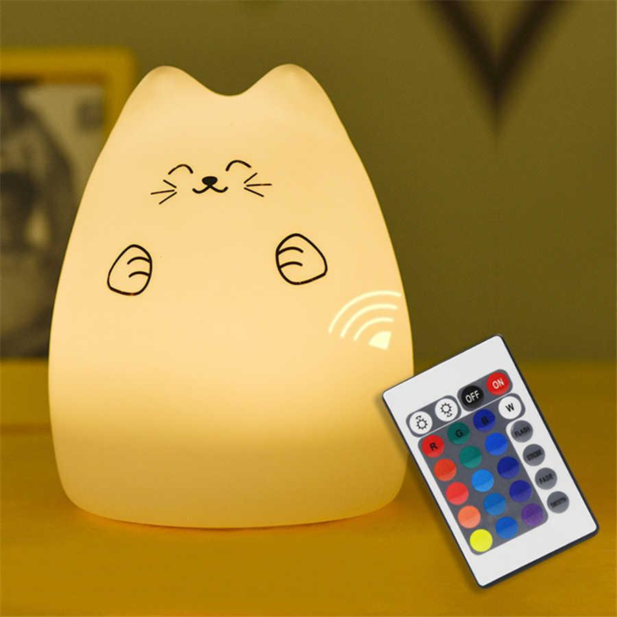 Силиконовый ночник «Котик с лапками» с пультом