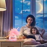 Силиконовый ночник «Единорог» с пультом ДУ, фото 6