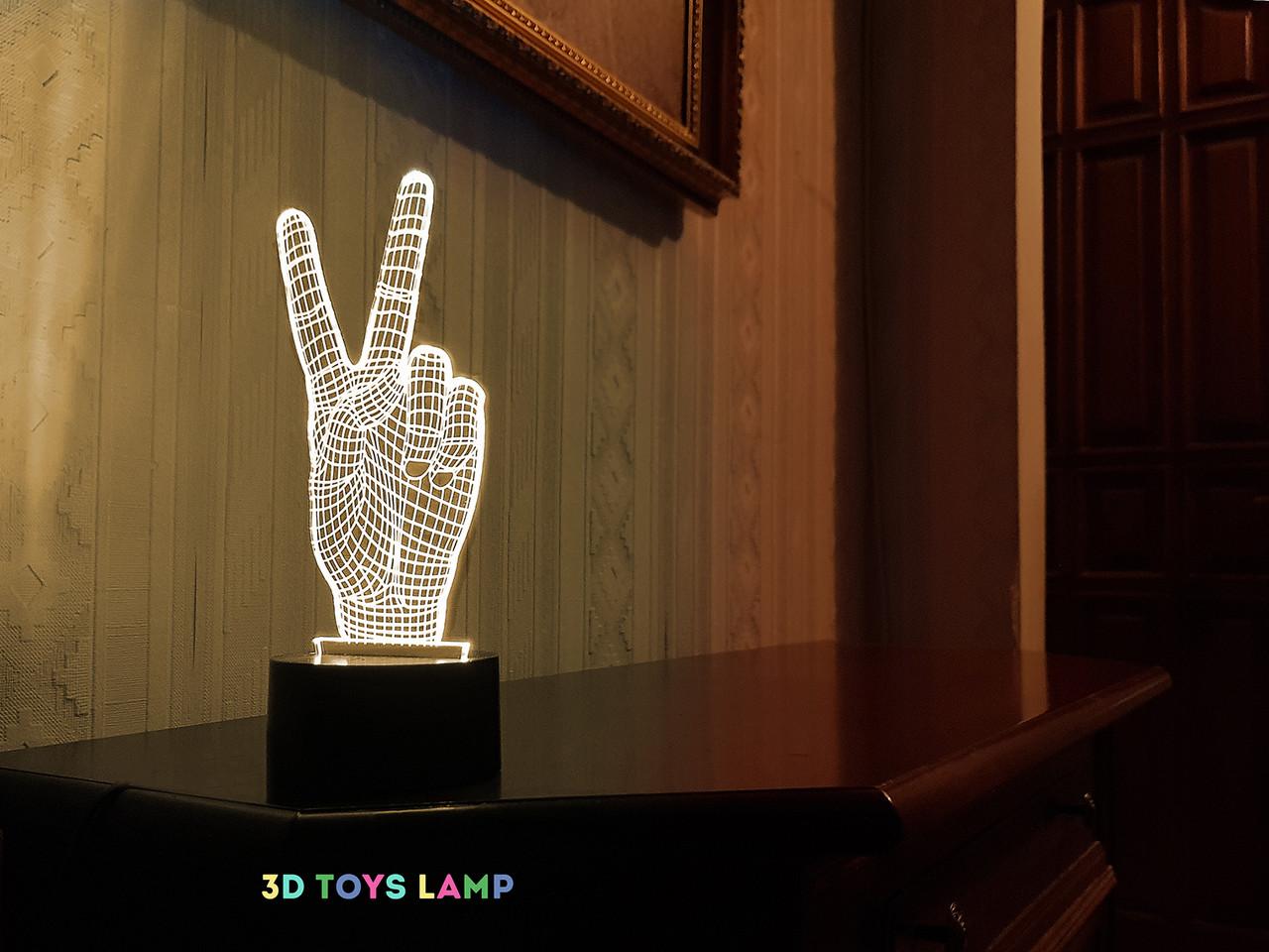 """3D светильник """"Привет"""" 3DTOYSLAMP"""