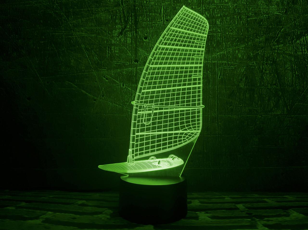 3D светильник в виде Парусника 3DTOYSLAMP