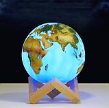 """3D светильник-ночник """"Земля"""" с пультом ДУ, фото 3"""