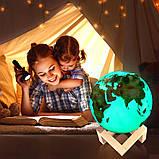 """3D светильник-ночник """"Земля"""" с пультом ДУ, фото 8"""