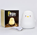Силиконовый ночник Пингвин Белый, фото 4