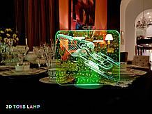 """3D лампа """"Космический корабль 4"""" 3DTOYSLAMP"""