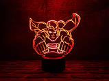 """Детский ночник для мальчика """"Супермен"""" 3DTOYSLAMP, фото 3"""