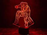 """Детский ночник для мальчика """"Железный человек 4"""" 3DTOYSLAMP, фото 2"""