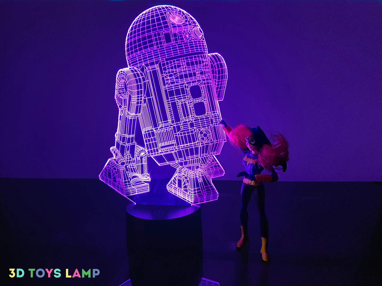 "3d светильник ""R2D2"" 3DTOYSLAMP"