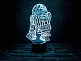 """3d светильник """"R2D2"""" 3DTOYSLAMP, фото 2"""