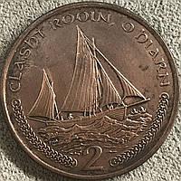 Монета острова Мен 2 пенса 2000 г., фото 1