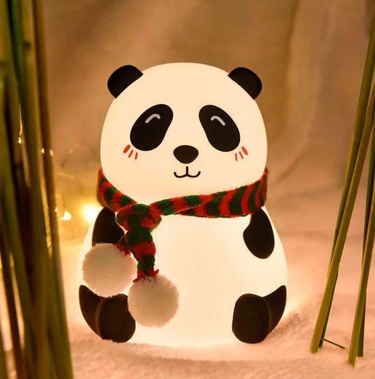 """Детский силиконовый ночник """"Панда закрытые глазки"""" 3DTOYSLAMP"""