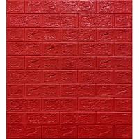 3D панель самоклеючі Шпалери 70*77*0,5 см цегла Червона Самоклейка 3Д