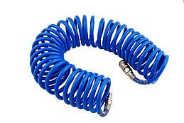 Шланг спиральный Intertool - 5 м 6,5 х 10 мм полиуретановый