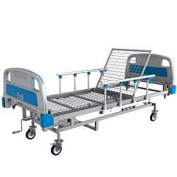Кровать функциональная с регулировкой высоты ЛФ-9 (для пациентов, с механической регулировкой)