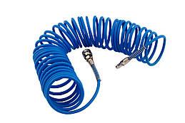 Шланг спиральный Mastertool - 10 м 5 х 8 мм полиуретановый