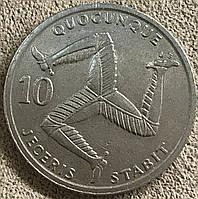 Монета острова Мен 10 пенсов 1992 г., фото 1