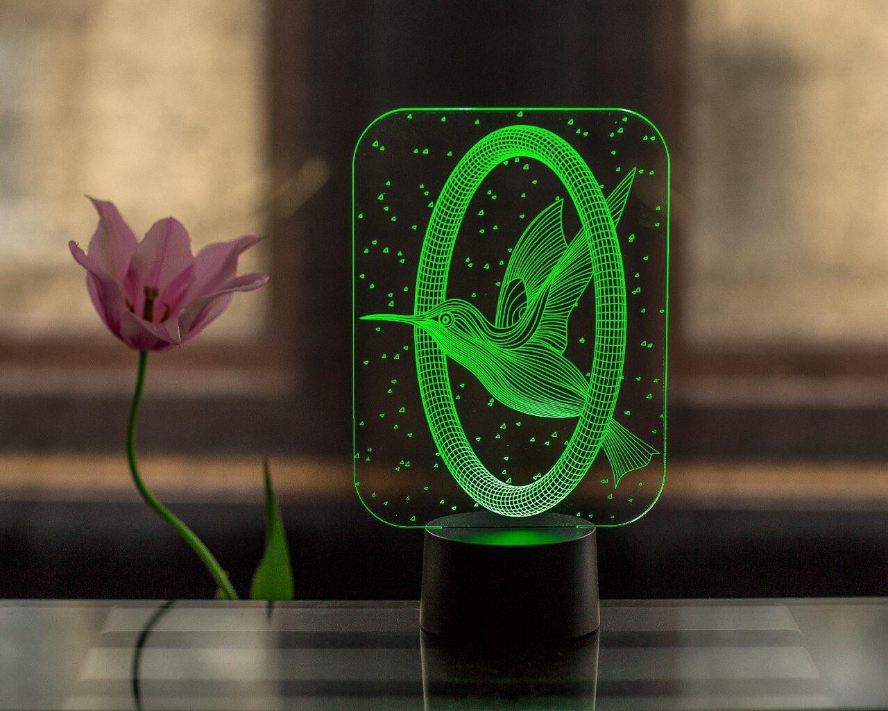 "3D светильник ""Колибри"" 3DTOYSLAMP"