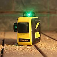 Лазерный уровень (нивелир) FIRECORE F93T-XG 12линий, 360 зеленый луч, аккумулятор