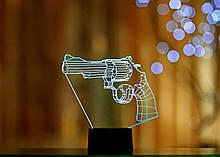 """3D светильник """"Револьвер"""" 3DTOYSLAMP"""