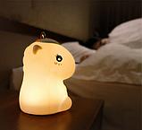 Силиконовый ночник Радужный единорог Розовый, фото 3