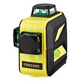 Лазерный уровень (нивелир) FIRECORE F93T-XG 12линий, 360 зеленый луч, аккумулятор, фото 4
