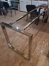 Каркаси для столів металеві хромовані з нержавіючої сталі Підстілля