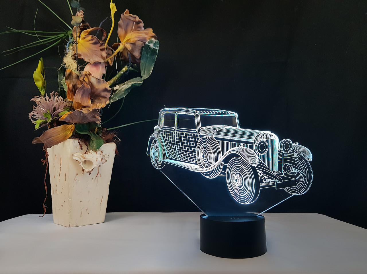 """3D светильник ночник """"Автомобиль 11"""" 3DTOYSLAMP"""