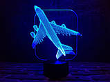 """Детский ночник - светильник """"Самолет"""" 3DTOYSLAMP, фото 2"""