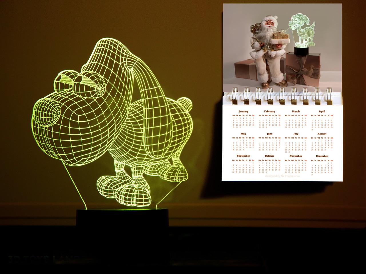 """Детский ночник - светильник """"Пёсик"""" 3DTOYSLAMP"""