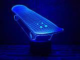 """Детский ночник — светильник """"Скейт"""" 3DTOYSLAMP, фото 2"""