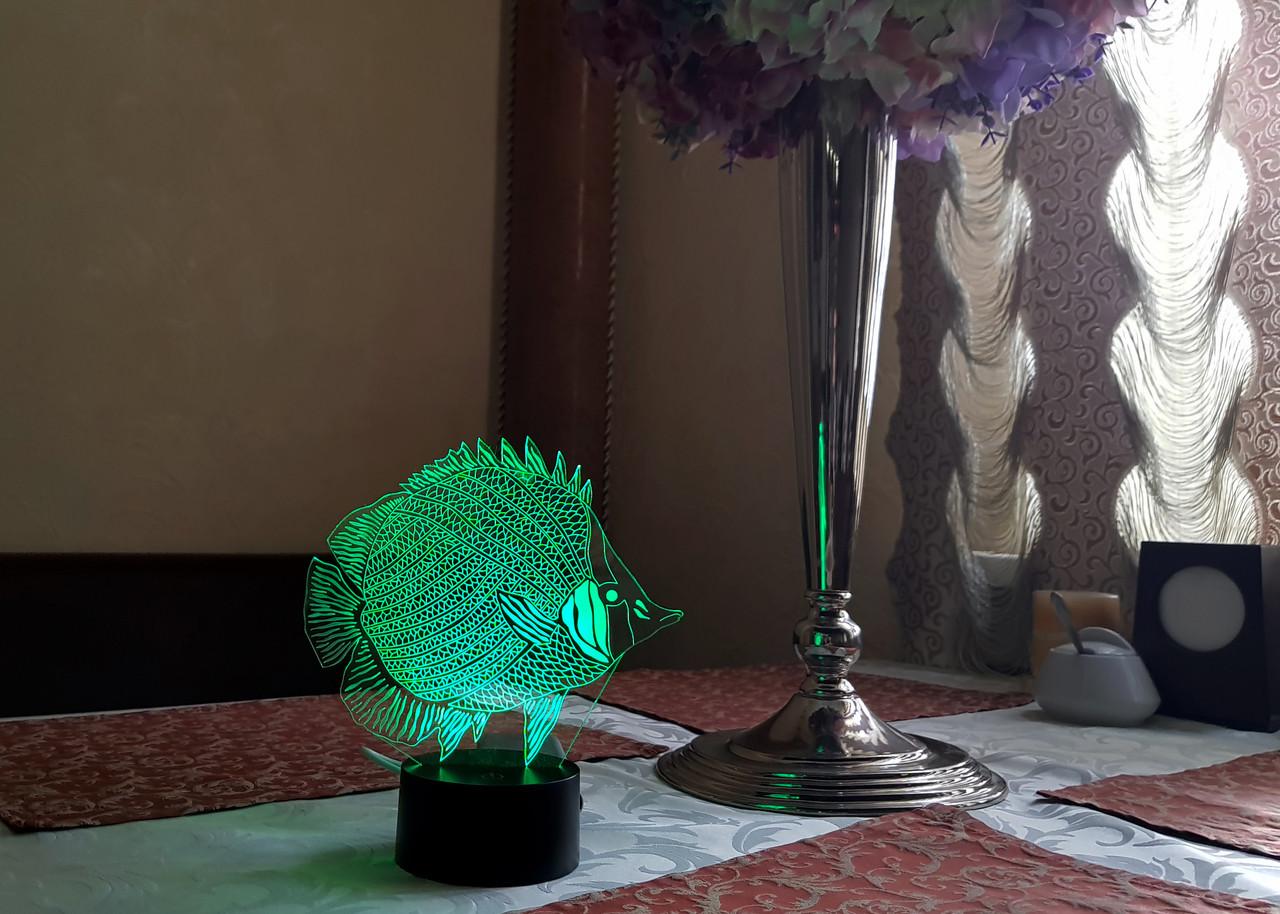 """Детский ночник - светильник ночник """"Рыбка"""" 3DTOYSLAMP"""