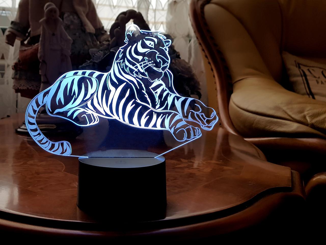 """Детский ночник - светильник ночник """"Тигр"""" 3DTOYSLAMP"""