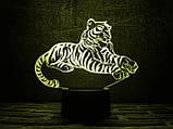 """Детский ночник - светильник ночник """"Тигр"""" 3DTOYSLAMP, фото 2"""