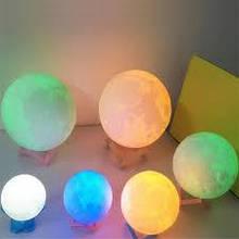 """Дитячий нічник — світильник """"Луна"""" 15 см 16 кольорів. Пульт ДУ"""