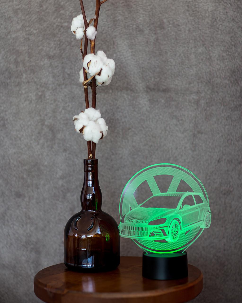 """3D светильник ночник """"Автомобиль 18"""" 3DTOYSLAMP"""