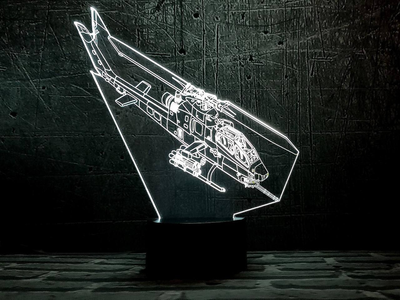 """3D светильник ночник """"Вертолет 2"""" 3DTOYSLAMP"""