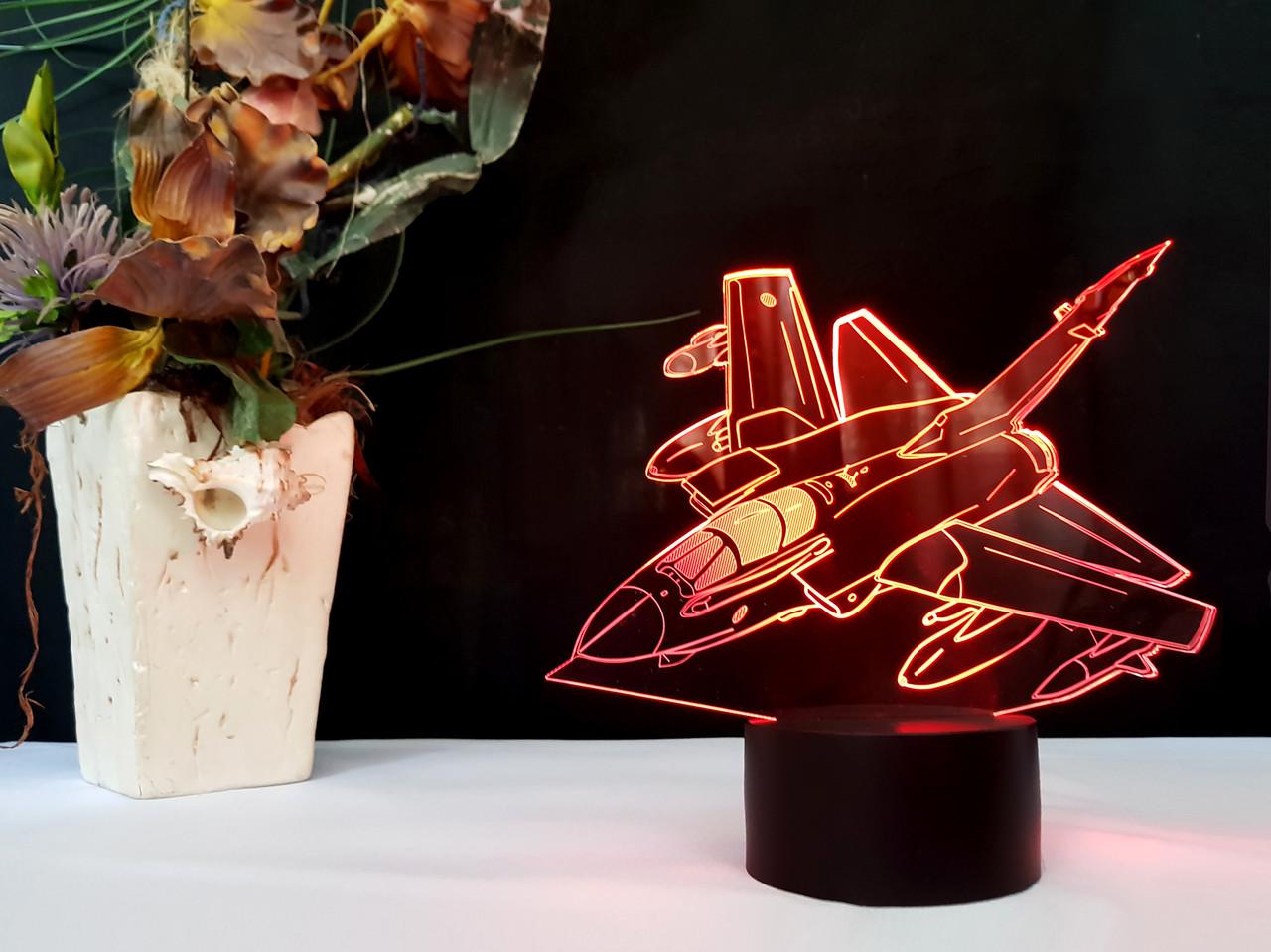 """Детский ночник -светильник """"Самолет 5 """" 3DTOYSLAMP"""