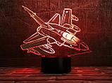 """Детский ночник -светильник """"Самолет 5 """" 3DTOYSLAMP, фото 2"""