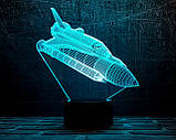 "3D светильник ночник ""Шатл"" 3DTOYSLAMP, фото 2"