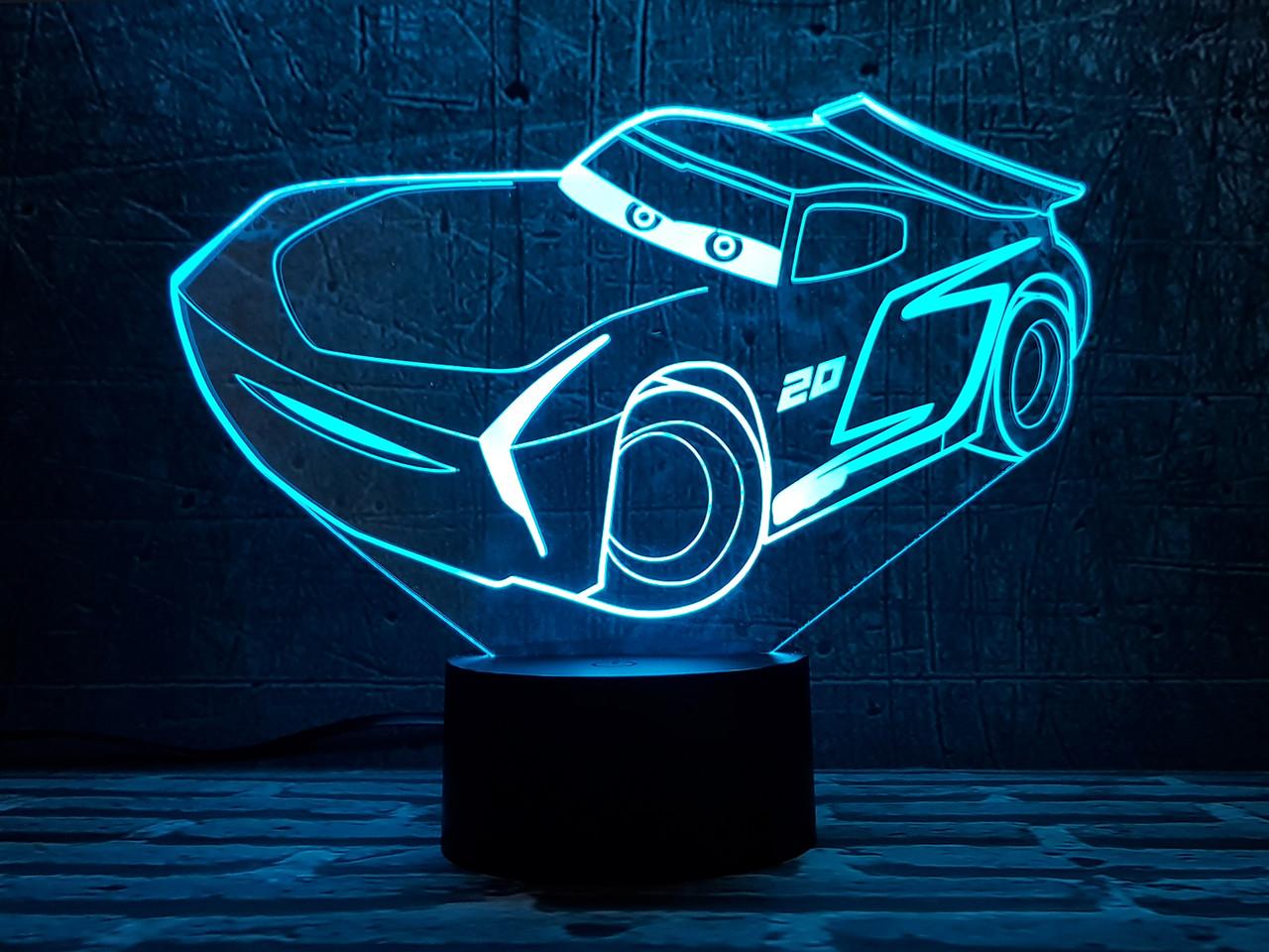 """Детский ночник - светильник """" Автомобиль 25 """" 3DTOYSLAMP"""