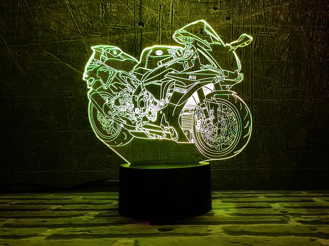 """Детский ночник-светильник """"Мотоцикл 8"""" 3D TOYSLAMP"""