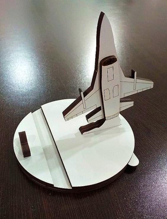 """Настольная подставка для телефона """"Самолет"""""""