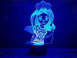 """Детский ночник - светильник """"Монстер Хай 2"""" 3DTOYSLAMP, фото 2"""