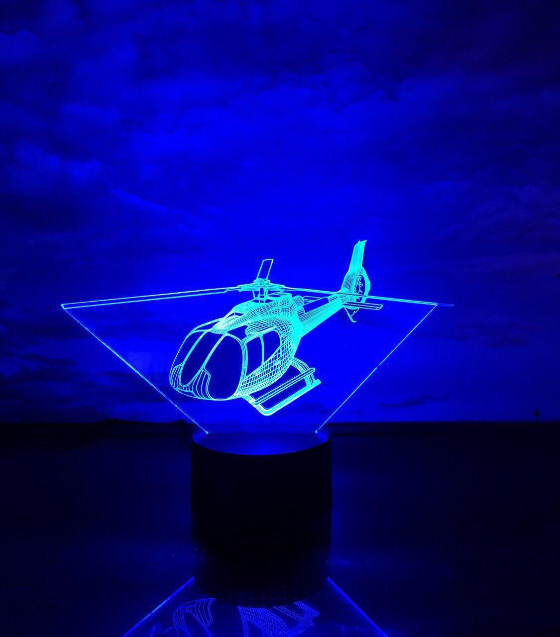 """Детский ночник -светильник """"Вертолет 4"""" 3DTOYSLAMP"""