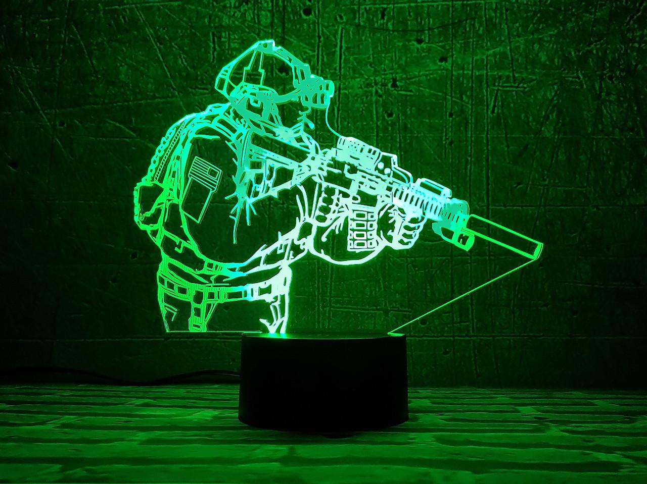 """3D светильник """"Защитник"""" 3DTOYSLAMP"""