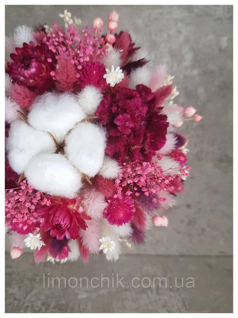 Букет из сухоцветов, стабилизированных цветов