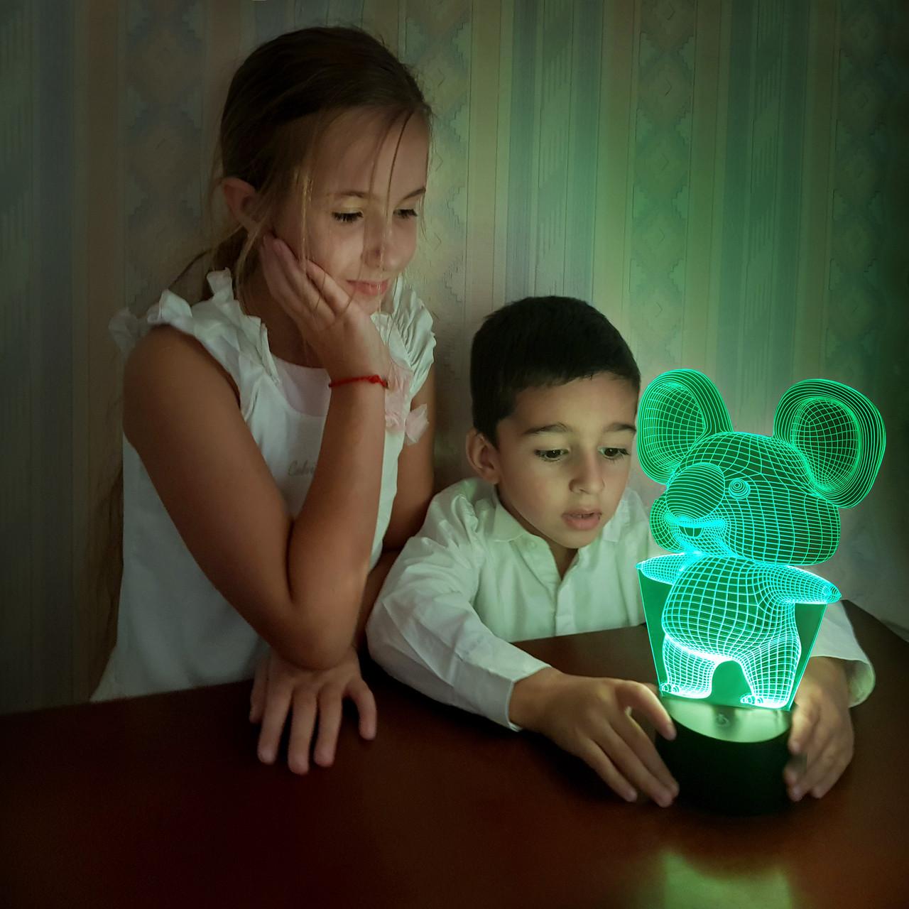 """Детский ночник """"Коала"""" 3DTOYSLAMP"""