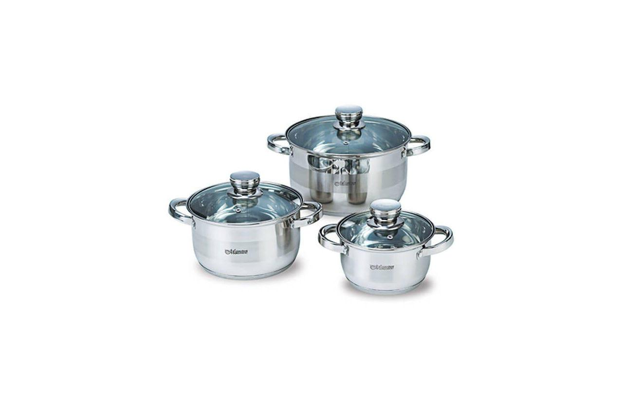 Набір посуду нержавіючий Maestro - 1,5 х 3 х 5 л, (3 шт.) MR-2220-6L