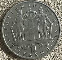 Монета Греции 50 лепта 1966 г., фото 1