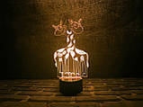 """Детский ночник - светильник """"Влюбленные жирафики"""" 3DTOYSLAMP, фото 2"""